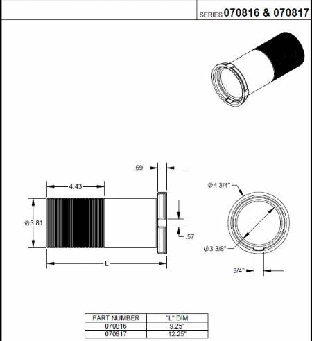 070816 C110212 Threade Adjustable Extension By